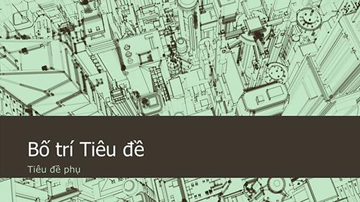 Nền bản trình bày phác thảo thành phố văn phòng kinh doanh (màn hình rộng)