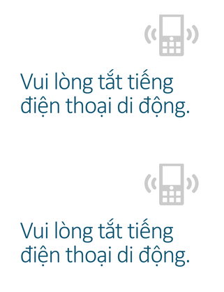 Áp phích nhắc nhở tắt điện thoại di động