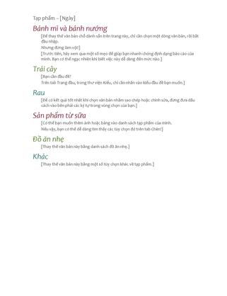 Danh sách tạp phẩm