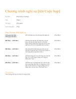 Chương trình làm việc trong cuộc họp bàn công việc (Thiết kế màu cam)