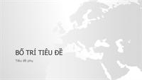 Bản trình bày lục địa Châu Âu, chuỗi bản đồ thế giới (màn hình rộng)
