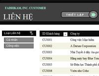 Danh sách liên hệ khách hàng