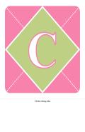 Biểu ngữ Chào mừng Bé Gái (màu hồng, tím, xanh lục)