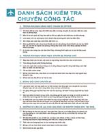Danh sách kiểm tra Du lịch
