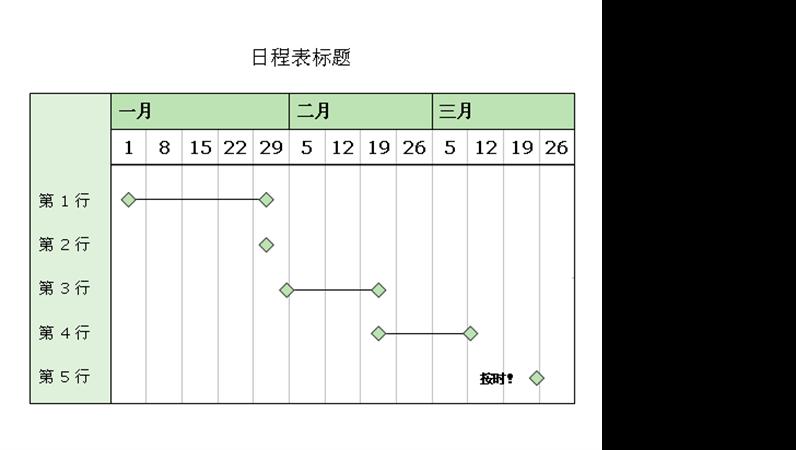 三个月的日程表