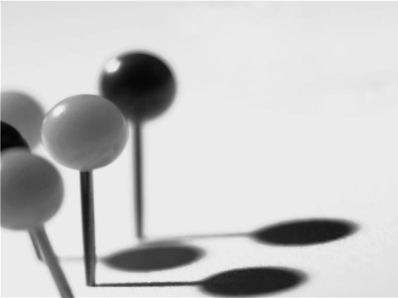 黑白图钉设计模板