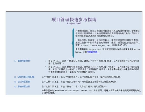 Project 2007 项目管理快速参考指南