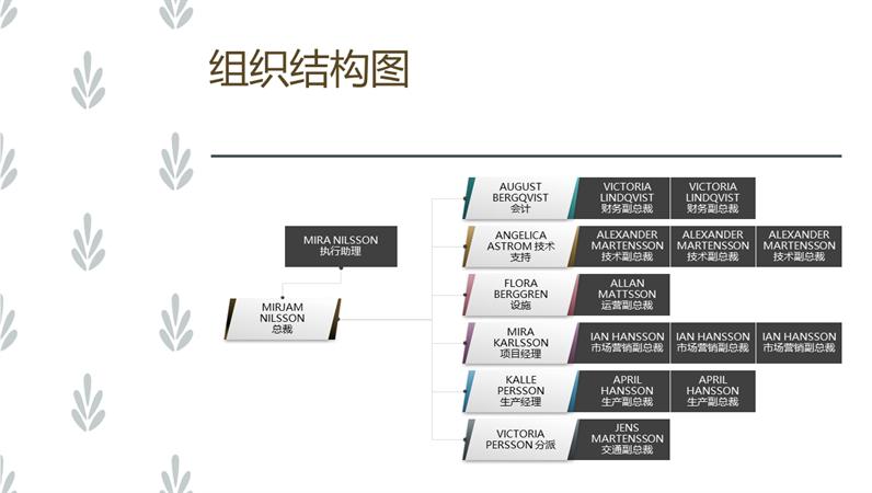 水平组织结构图