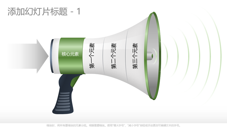 Funnel chart megaphone