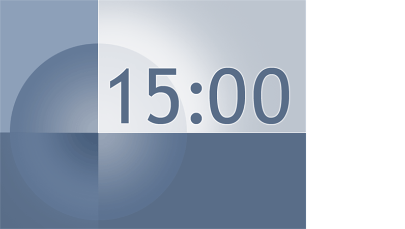 十五分钟定时幻灯片(蓝灰色设计)