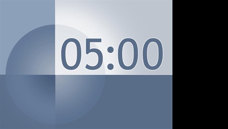 五分钟定时幻灯片(蓝灰色设计)