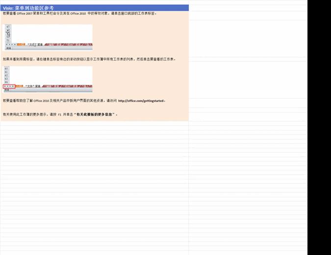 Visio 2010:菜单到功能区参考工作簿