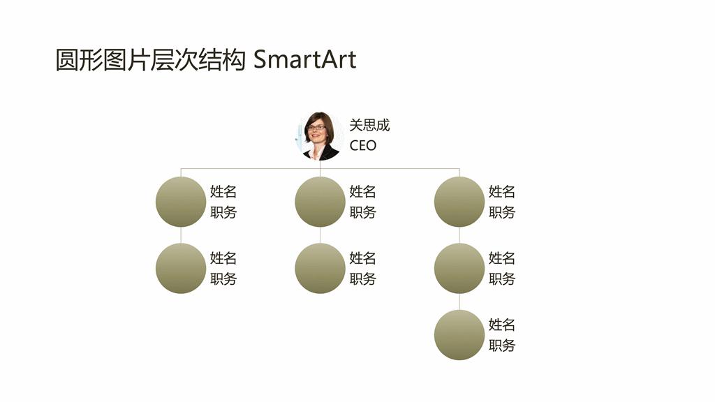 圆形图片组织结构图(宽屏)
