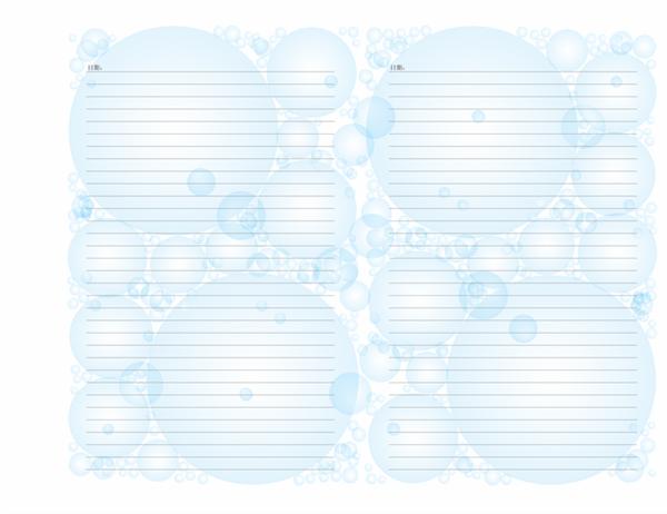 日记页(气泡型设计;横向)