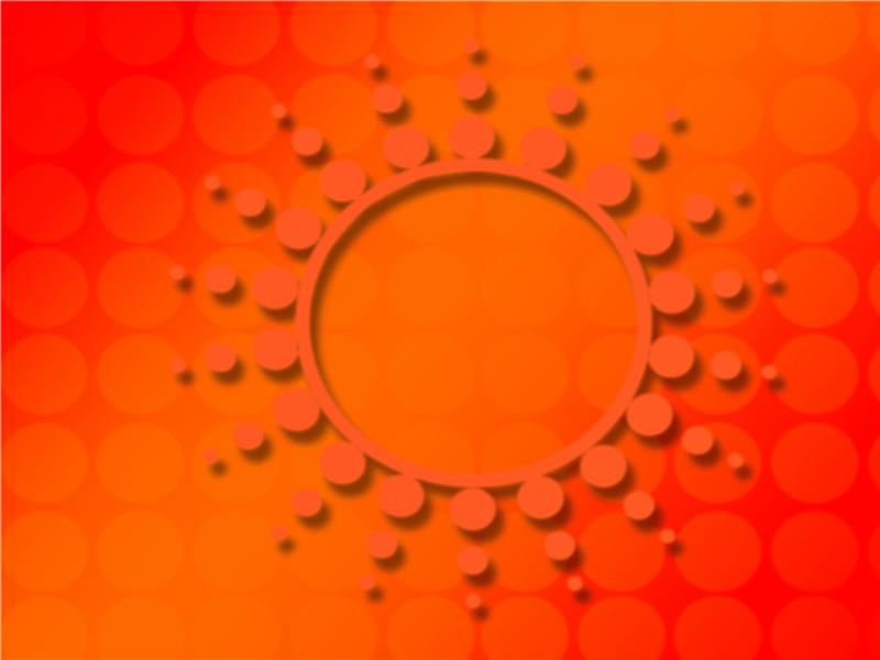 太阳耀斑设计模板