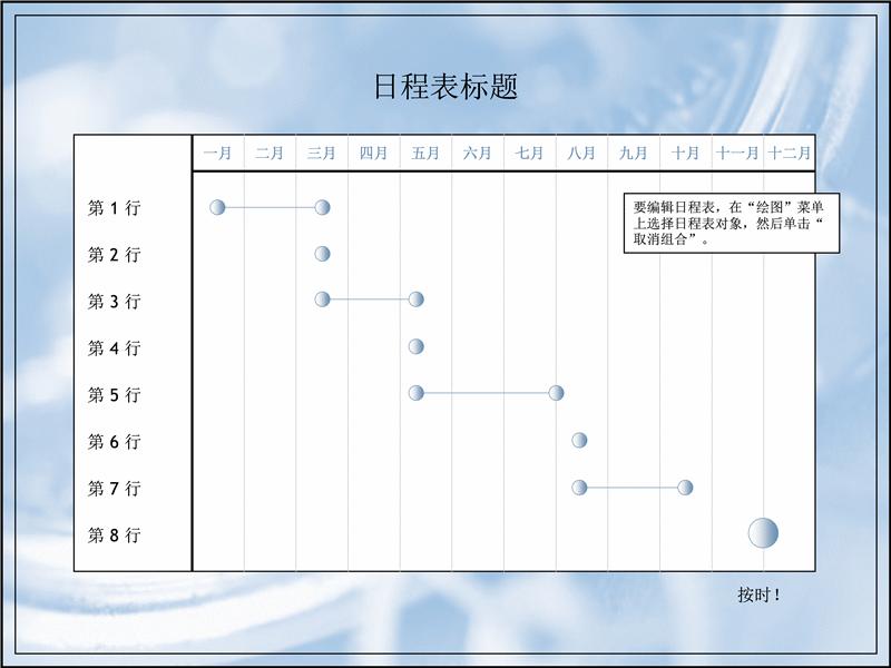 为期十二个月的多层项目日程表