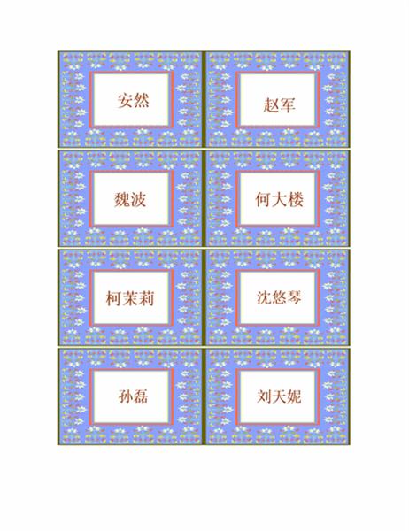 胸卡(与 Avery cb72c 和 cc102c 配套使用)