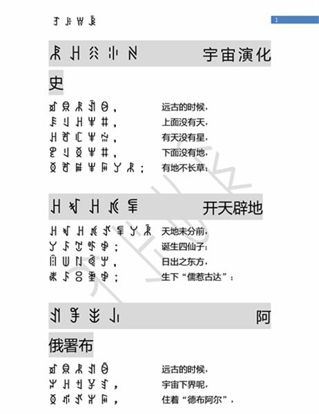 彝语模板1