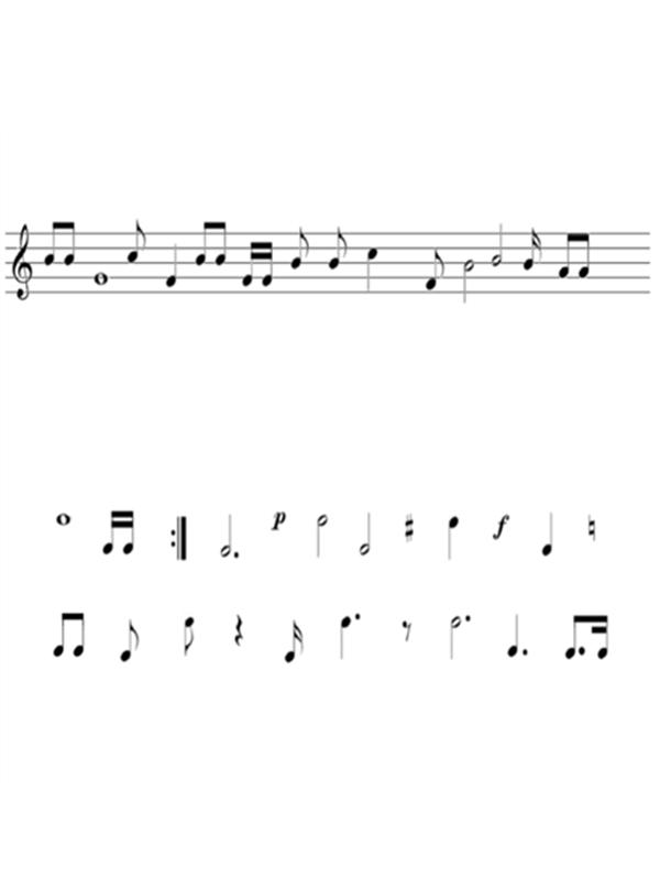 五線譜及音符