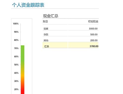 个人资金跟踪表