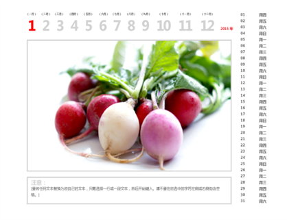 2015 年照片日历