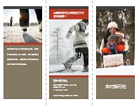 三折旅行小册子(红色和灰色设计)