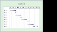 为期三个月的多层项目日程表