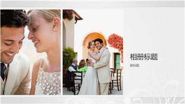 结婚相册,银色巴洛克设计(宽屏)