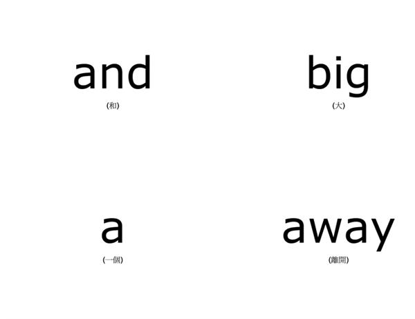 词汇表教学卡片(Dolch 学龄前儿童常用单词;与 Avery 3263、8387 配套使用)