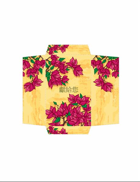 禮金袋 (粉紅色花卉圖案)