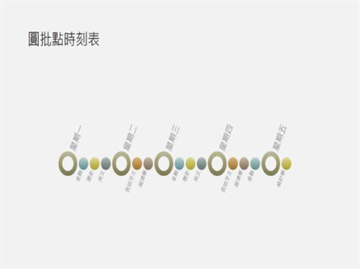 活动日程表图示幻灯片(宽屏)