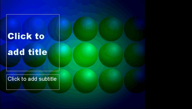 藍綠球狀設計範本