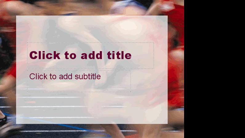 賽跑者設計範本