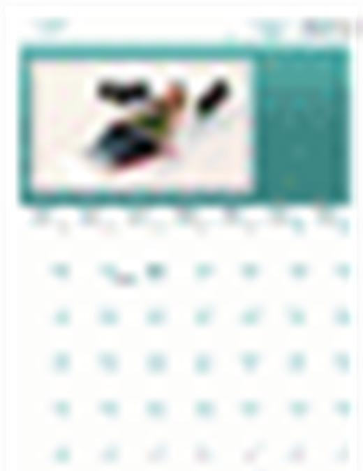季節性家庭行事曆 (任一年,一至日)