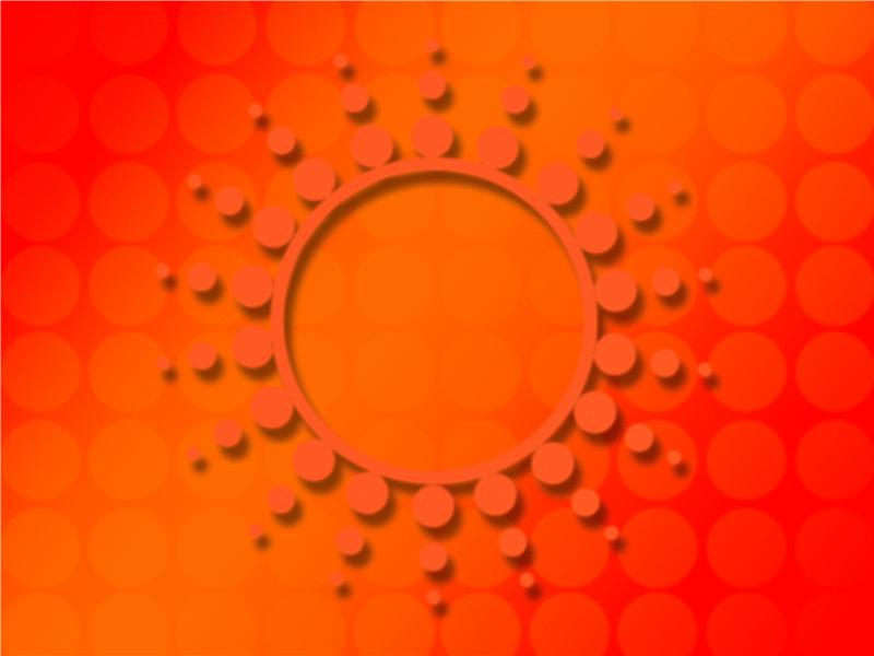 太陽特寫設計範本
