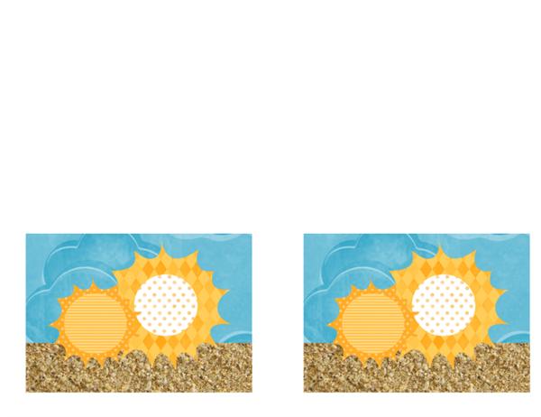 邀請函 (陽光與沙灘圖案設計)