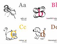 字母教學卡片 (使用 Avery 3263、8387)