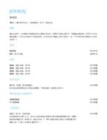 註冊護士履歷表
