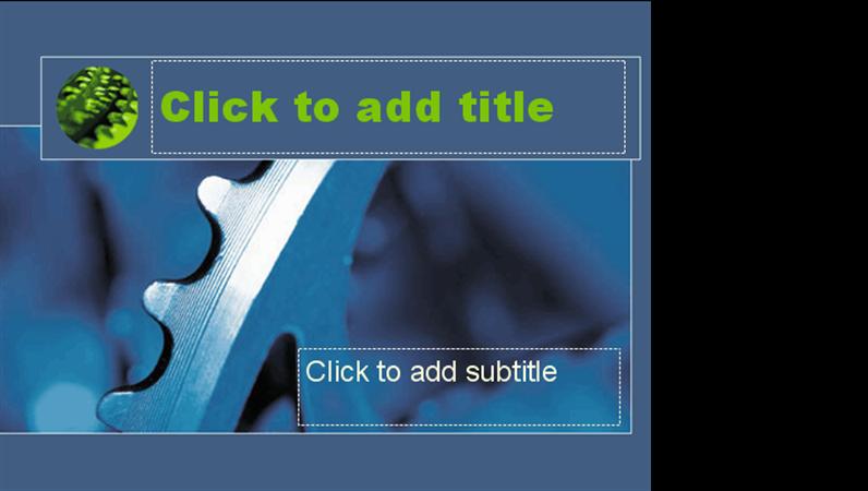 藍色齒輪設計範本