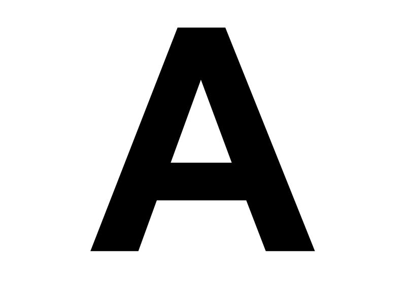 橫幅字母及數字 (8.5x11)