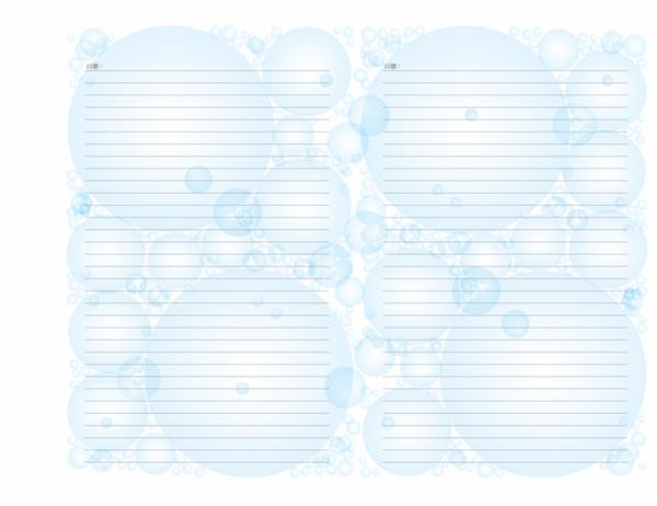 日記內頁 (泡泡設計;橫向)