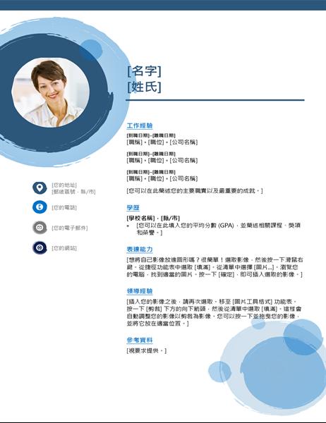 藍色球體履歷表