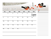 2013 年凱撒曆 (週一至週日)