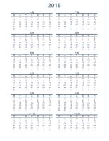 單年行事曆